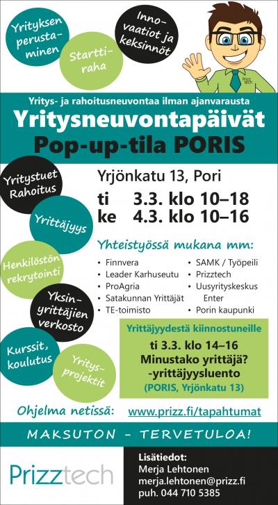 Yritysneuvontapäivät Porissa Ti-Ke 3.–4.3.2021 - Prizztech Oy